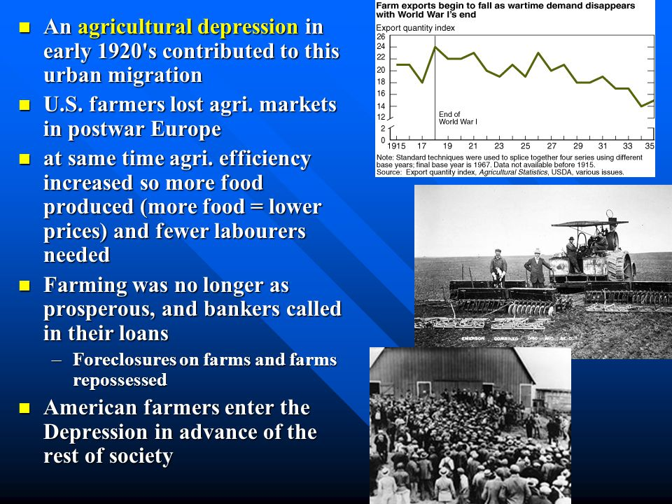 Age of Prosperity Economic Economic expansion Mass Mass Production Assembly Assembly Line Age Age of the Automobile Ailing Ailing Agriculture…