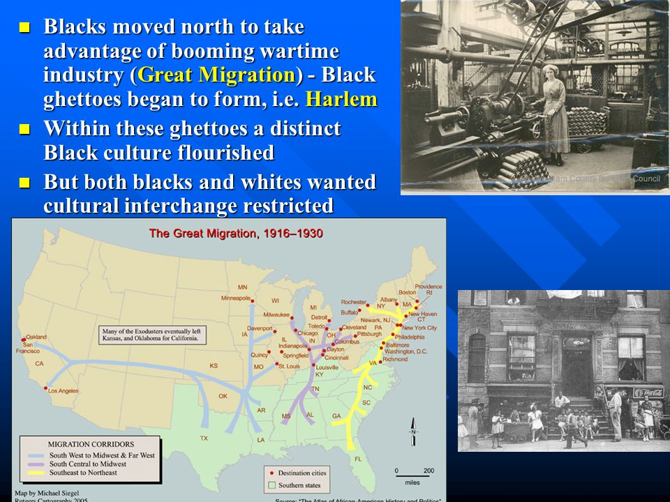 Black Americans in this period continued to live in poverty Black Americans in this period continued to live in poverty Sharecropping kept them in de