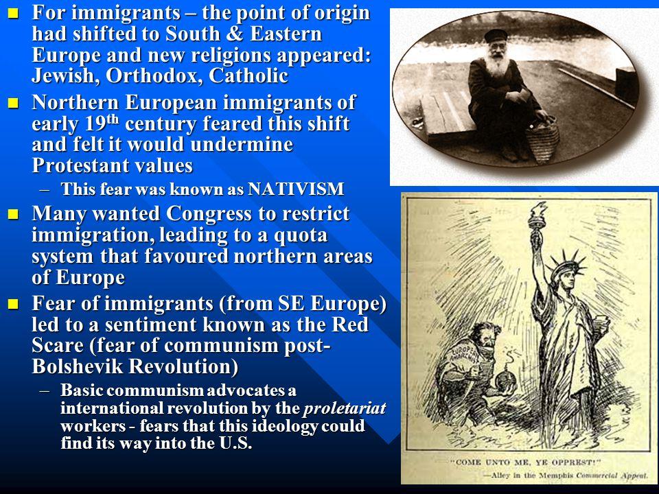 A Society in Conflict Anti-immigrant Anti-immigrant –National Origins Act –Nativism –Discrimination Sacco-Vanzetti Trial –Italian immigrants –Unfair t