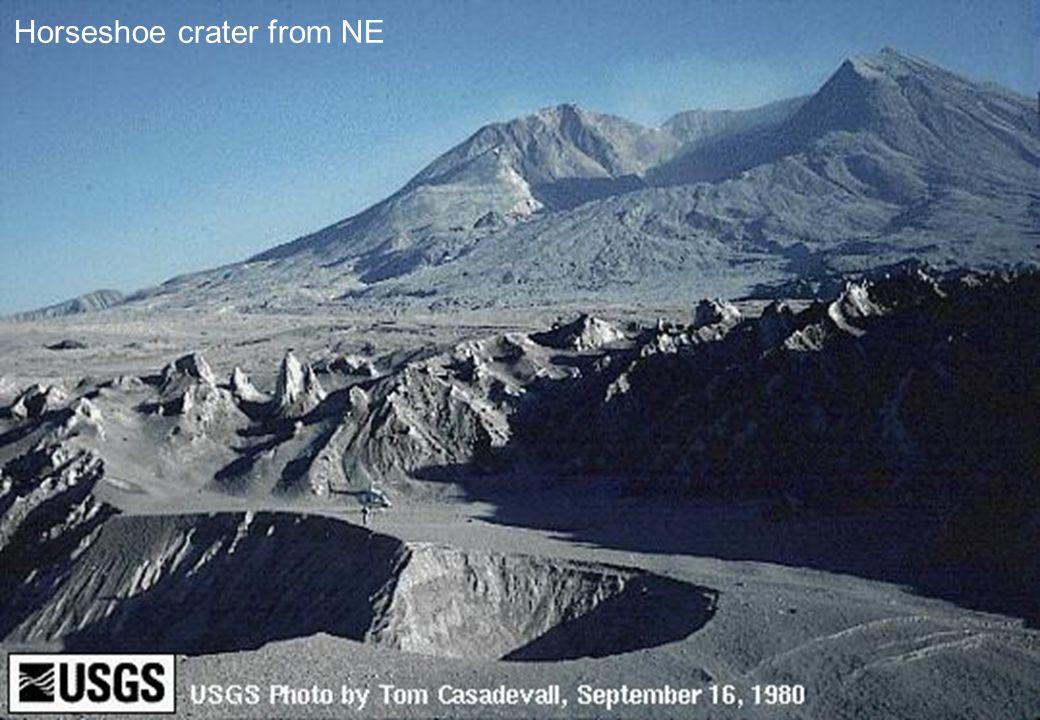 Horseshoe crater from NE