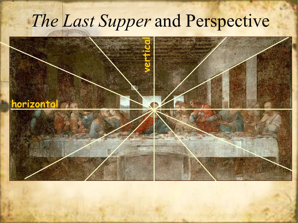 horizontal vertical The Last Supper and Perspective