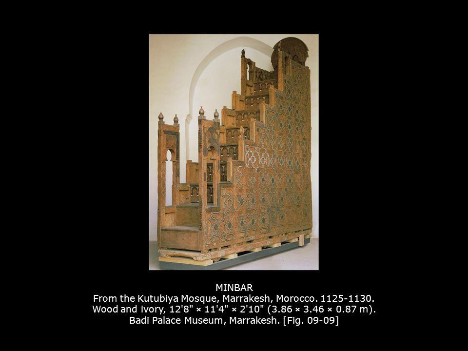 MINBAR From the Kutubiya Mosque, Marrakesh, Morocco. 1125-1130. Wood and ivory, 12'8