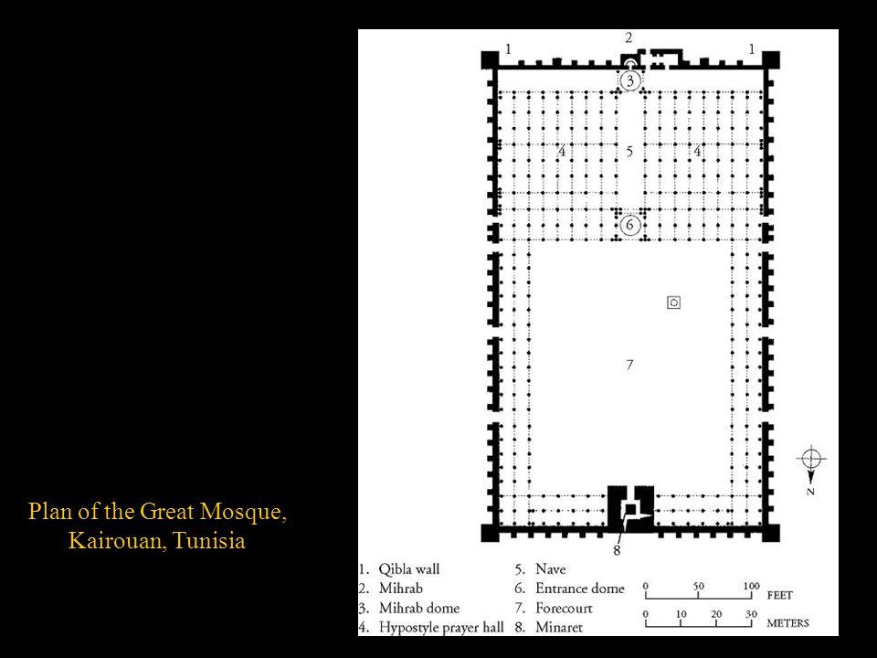 Plan of the Great Mosque, Kairouan, Tunisia