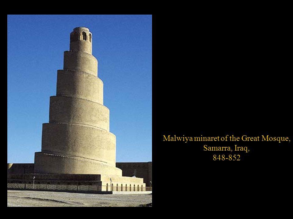 Malwiya minaret of the Great Mosque, Samarra, Iraq, 848-852