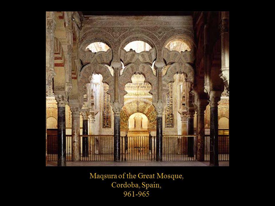Maqsura of the Great Mosque, Cordoba, Spain, 961-965