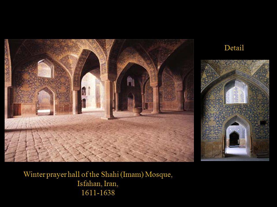 Winter prayer hall of the Shahi (Imam) Mosque, Isfahan, Iran, 1611-1638 Detail