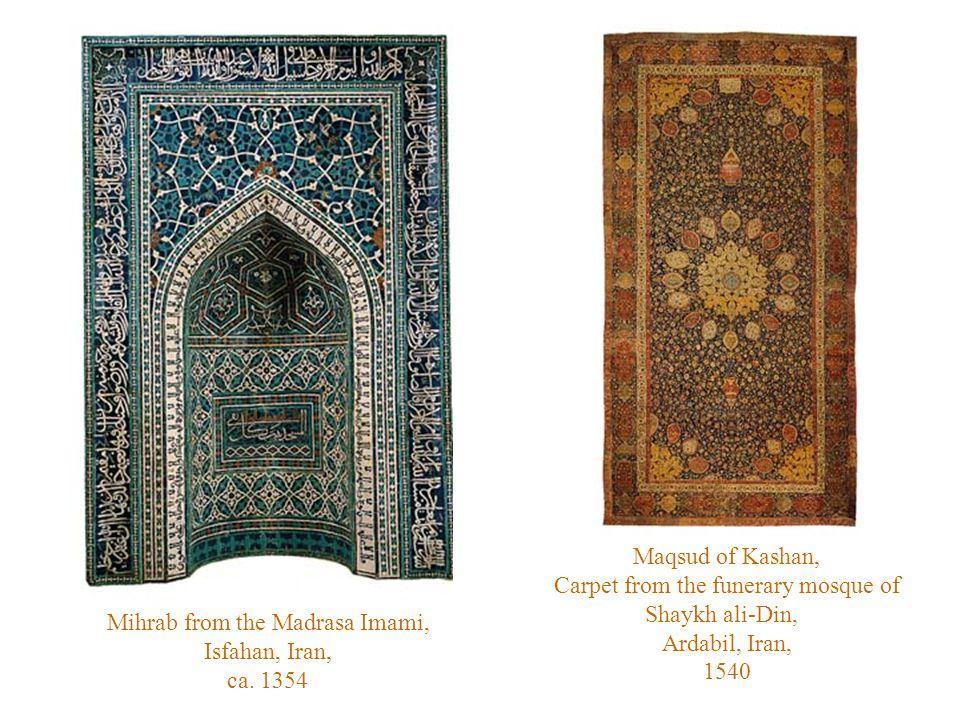 Mihrab from the Madrasa Imami, Isfahan, Iran, ca.