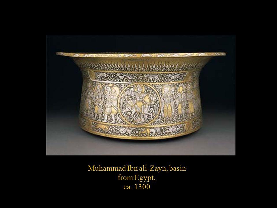 Muhammad Ibn ali-Zayn, basin from Egypt, ca. 1300
