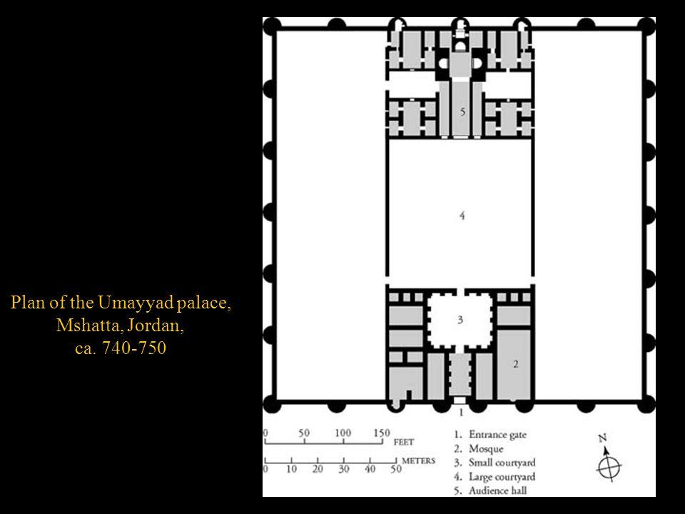 Plan of the Umayyad palace, Mshatta, Jordan, ca. 740-750