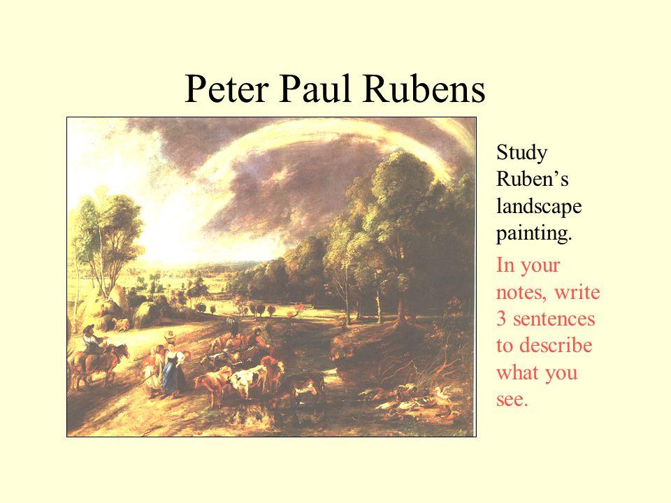 Peter Paul Rubens Study Ruben's landscape painting.