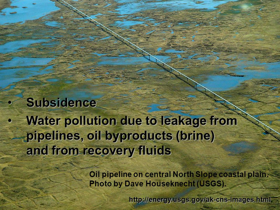 IMPACTS OF FOSSIL FUELS Impacts of oil drilling/recovery Disruption of the land and/or ecosystemsDisruption of the land and/or ecosystems http://www.explorenorth.com/library/photosofweek/caribou_no_impact.html