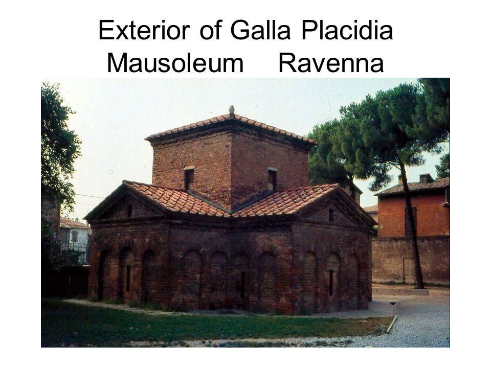 Exterior of Galla Placidia Mausoleum Ravenna