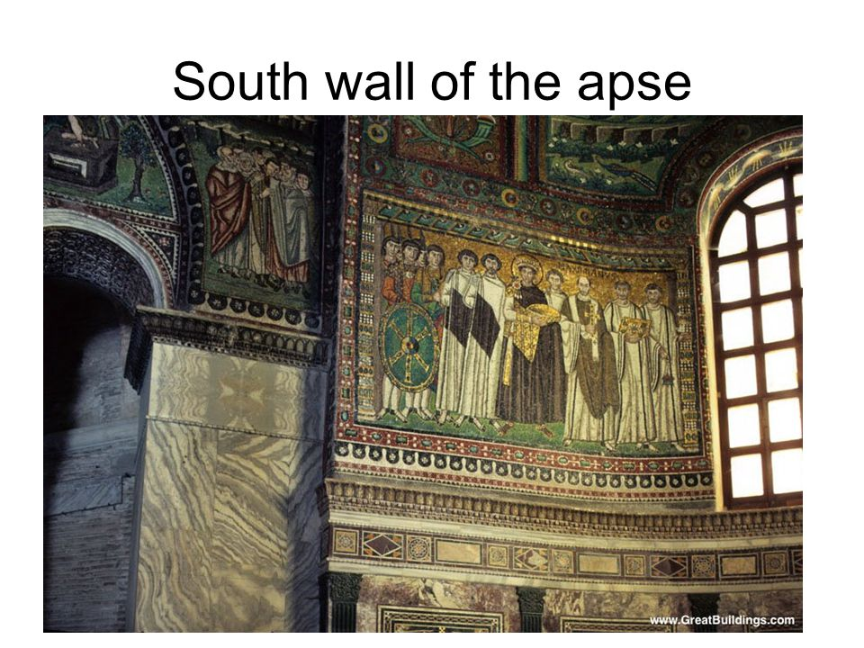 South wall of the apse