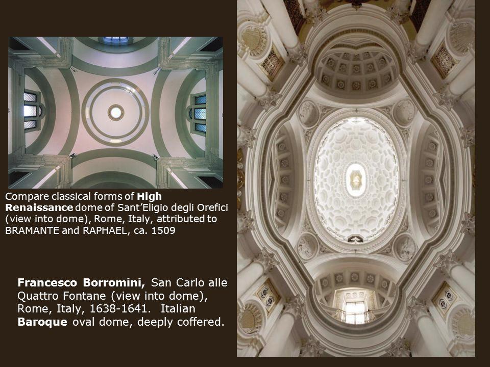 Francesco Borromini, San Carlo alle Quattro Fontane (view into dome), Rome, Italy, 1638-1641.