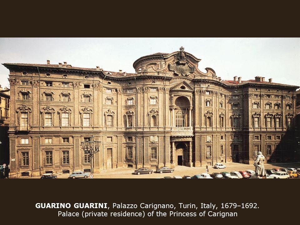 GUARINO GUARINI, Palazzo Carignano, Turin, Italy, 1679–1692.
