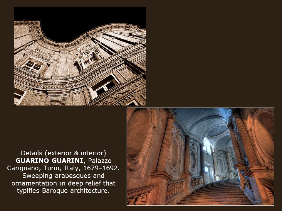 Details (exterior & interior) GUARINO GUARINI, Palazzo Carignano, Turin, Italy, 1679–1692.