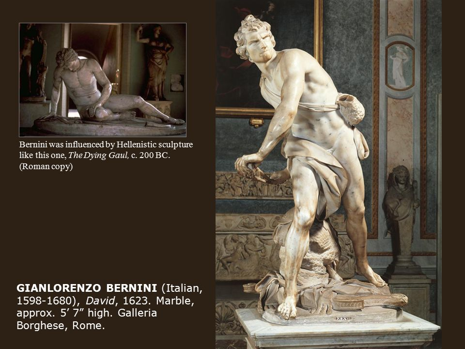 GIANLORENZO BERNINI (Italian, 1598-1680), David, 1623.
