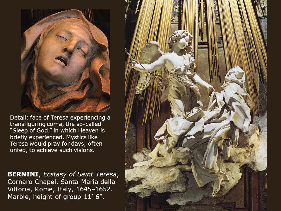 BERNINI, Ecstasy of Saint Teresa, Cornaro Chapel, Santa Maria della Vittoria, Rome, Italy, 1645–1652.