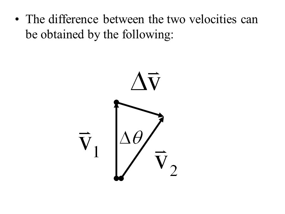 The difference between the two velocities can be obtained by the following: