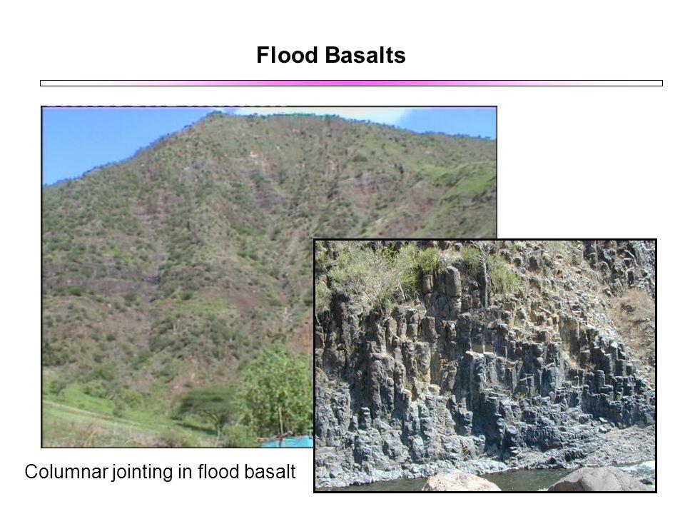 Flood Basalts Columnar jointing in flood basalt