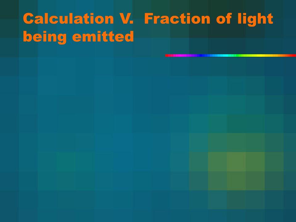 Calculation V. Fraction of light being emitted