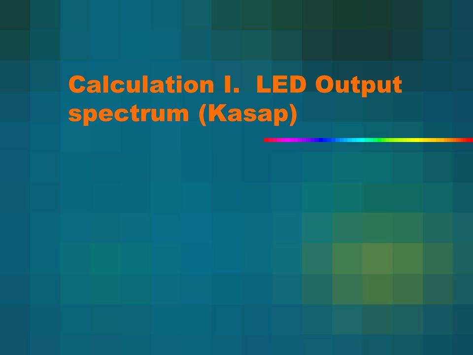 Calculation I. LED Output spectrum (Kasap)