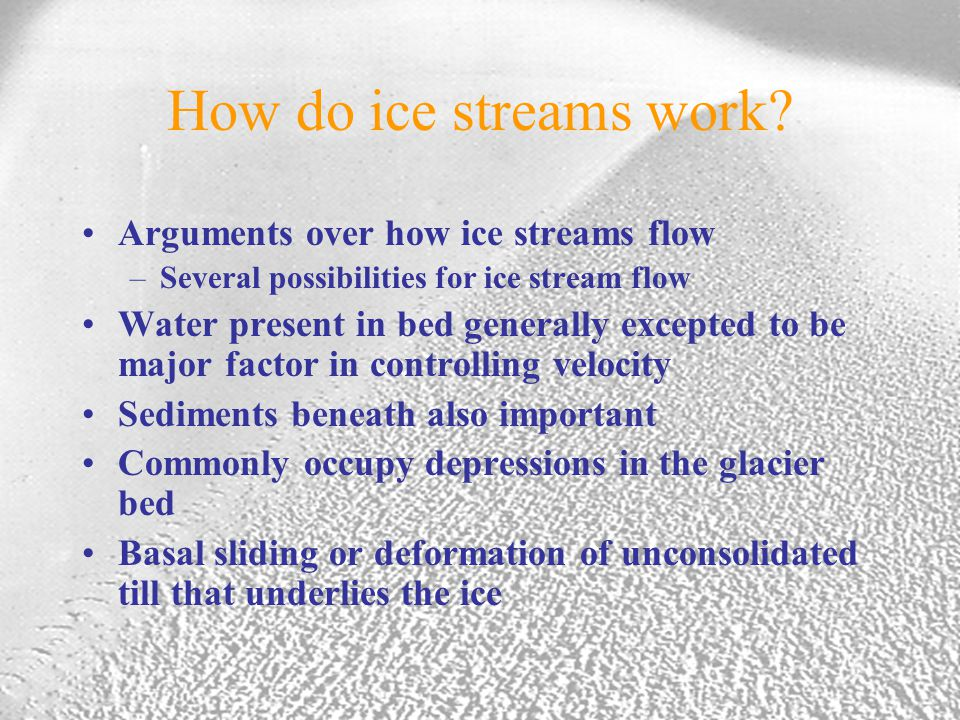 How do ice streams work.