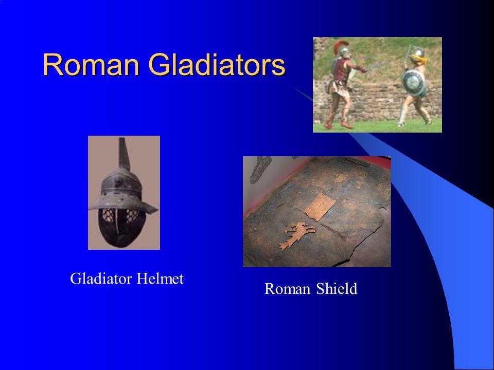 Roman Gladiators Gladiator Helmet Roman Shield