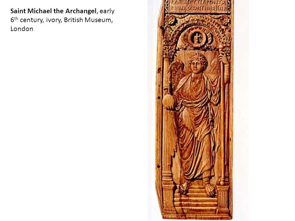 Saint Michael the Archangel, early 6 th century, ivory, British Museum, London