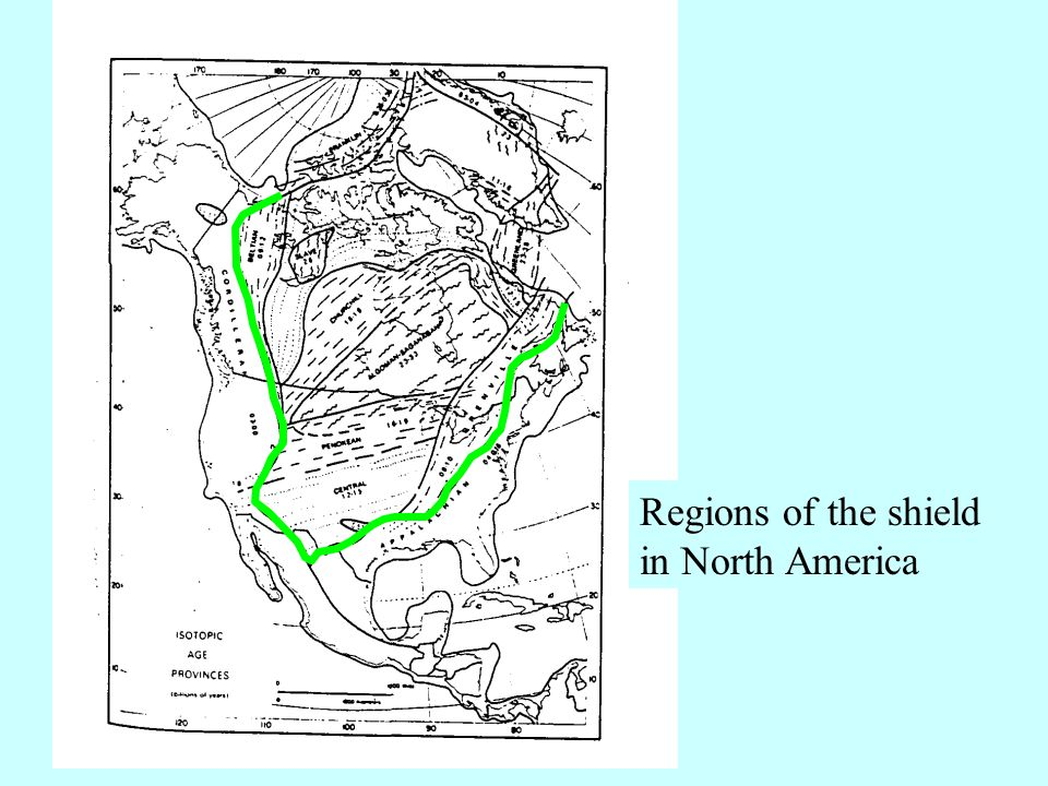 Regions of the shield in North America