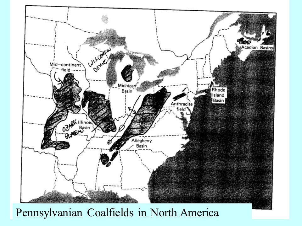 Pennsylvanian Coalfields in North America