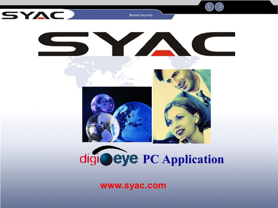 21 DigiEye PC Player PC application program (PC Appl.exe): This is a setup program that automatically install the PCPlayer and the future applications onto the hard disk of your PC This player enable you to play back any saved film from the DigiEye recording on any of the standard PC.