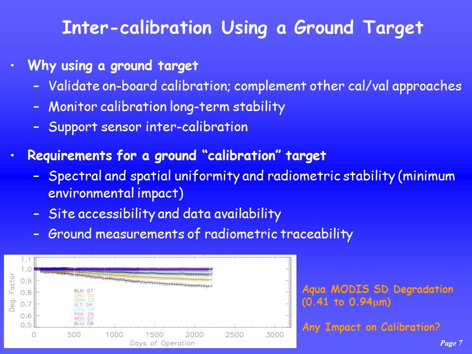 Page 7 Aqua MODIS SD Degradation (0.41 to 0.94  m) Any Impact on Calibration.