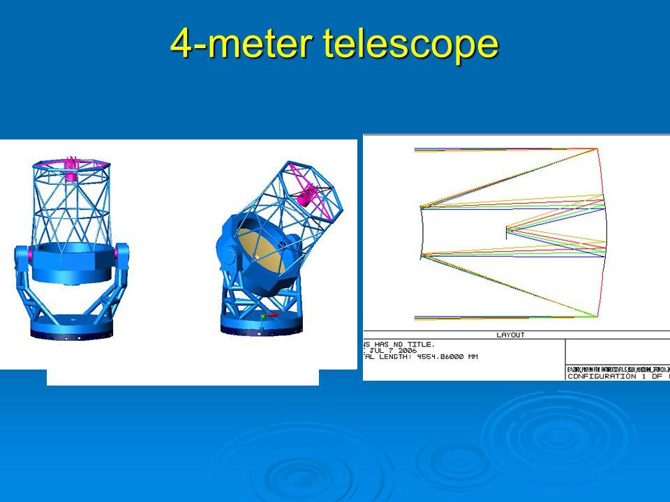 4-meter telescope 图 4 (b) 4 米望远镜机架及支撑效果图