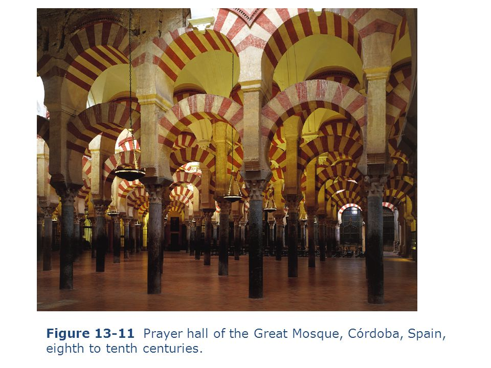 Figure 13-11 Prayer hall of the Great Mosque, Córdoba, Spain, eighth to tenth centuries.