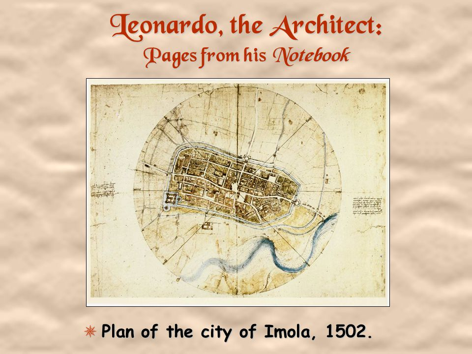 Leonardo, the Architect: Pages from his Notebook Study of a central church. 1488