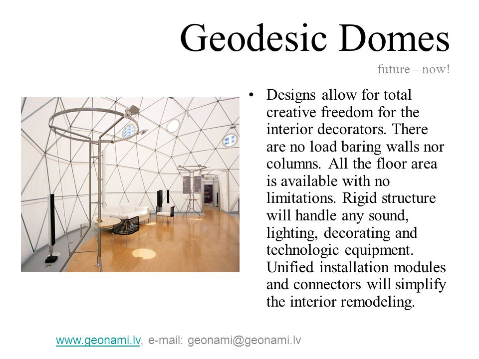 Geodesic Domes future – now.