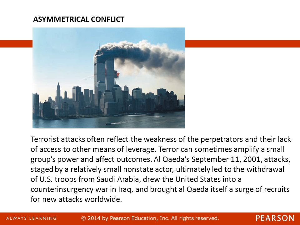 Terrorist attacks often reflect the weakness of the perpetrators and their lack of access to other means of leverage.