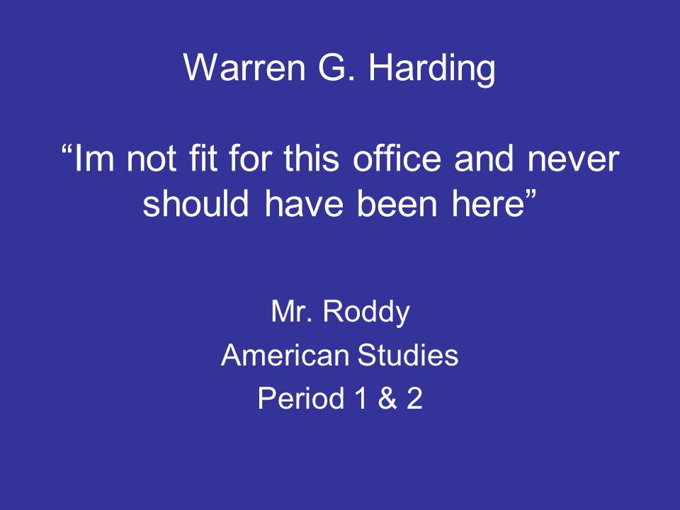 Calvin Coolidge and Herbert Hoover Mr. Roddy American Studies Period 1 & 2