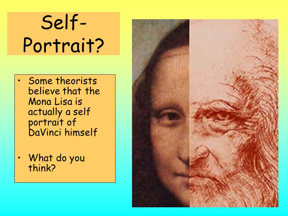 """Leonardo Da Vinci (1452 – 1519) """"Mona Lisa"""" The painting exhibits perspective. All lines are drawn to a point behind Mona Lisa's head. Excellent use o"""