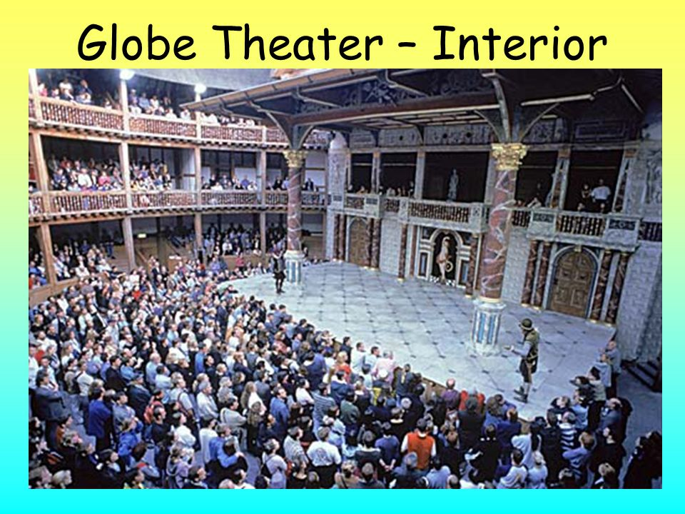 Globe Theater (1599) The original burned down in 1613 due to a cannon shot used as a prop during a performance Archaeologists located the original fou