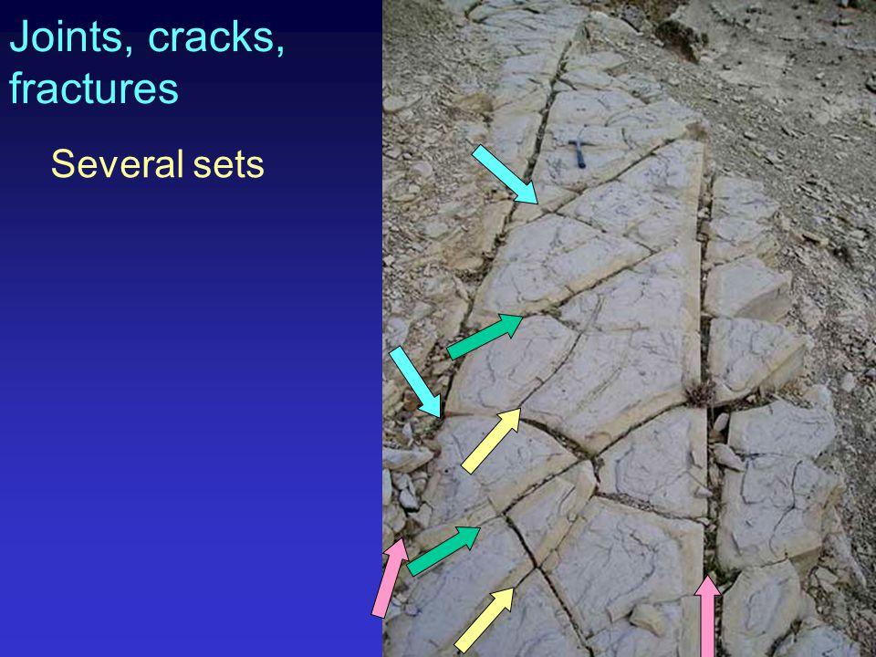 Joints, cracks, fractures Several sets