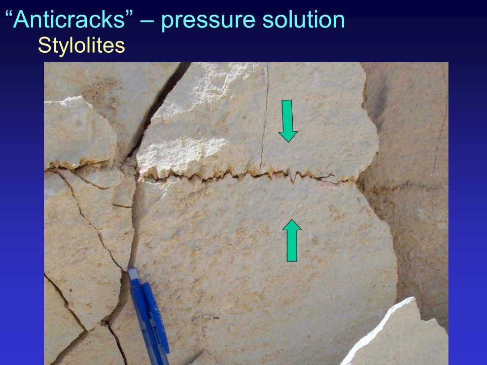 """""""Anticracks"""" – pressure solution Stylolites"""