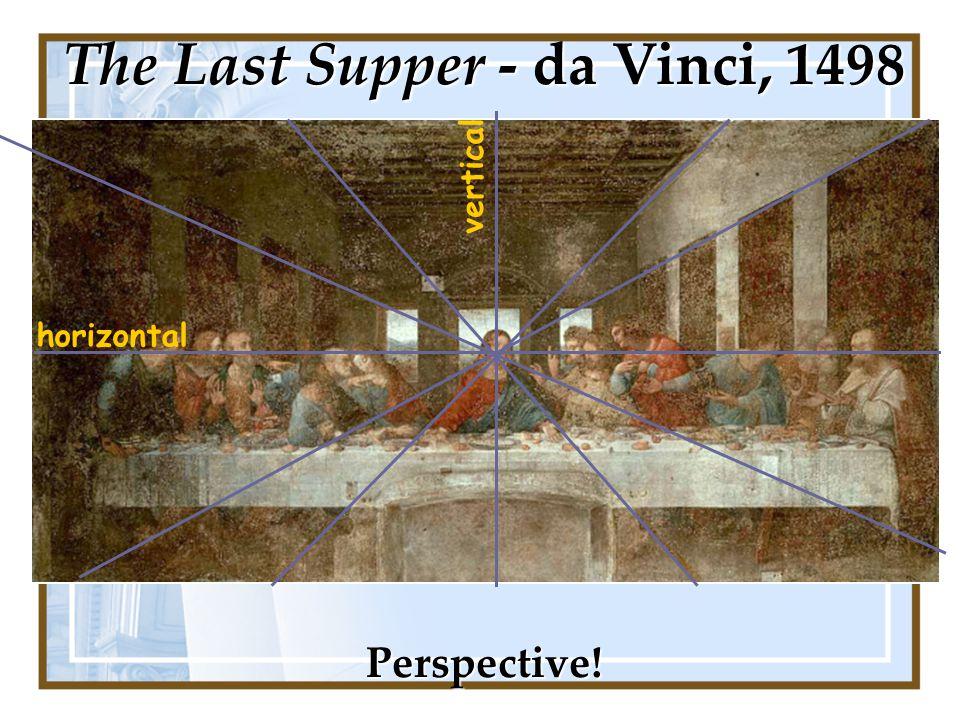 horizontal vertical Perspective! The Last Supper - da Vinci, 1498