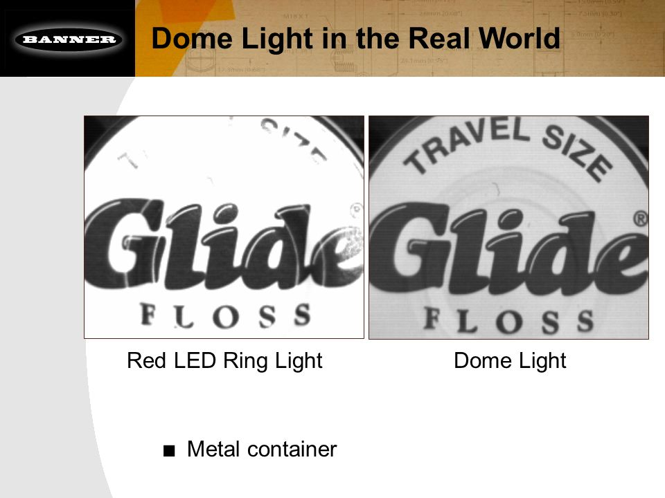 Dome Light in the Real World Red LED Ring LightDome Light ■ Metal container