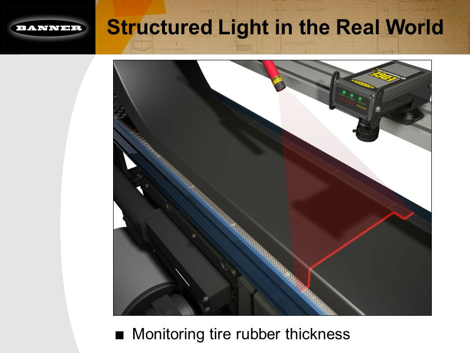■ Monitoring tire rubber thickness