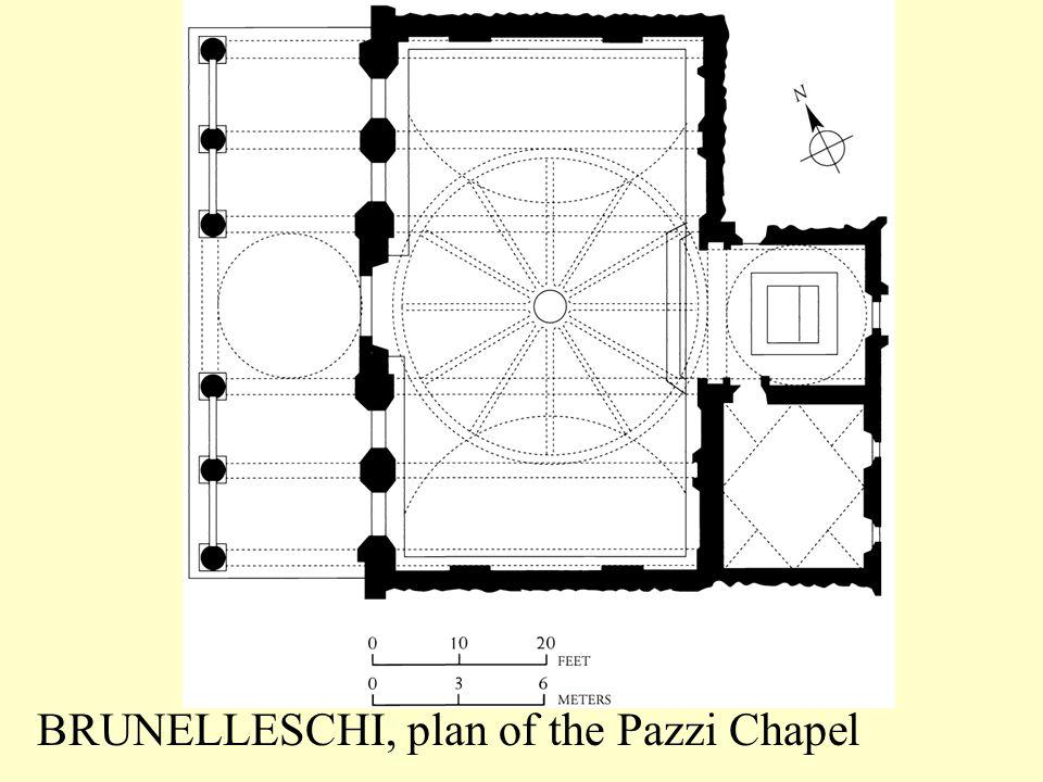 BRUNELLESCHI, plan of the Pazzi Chapel