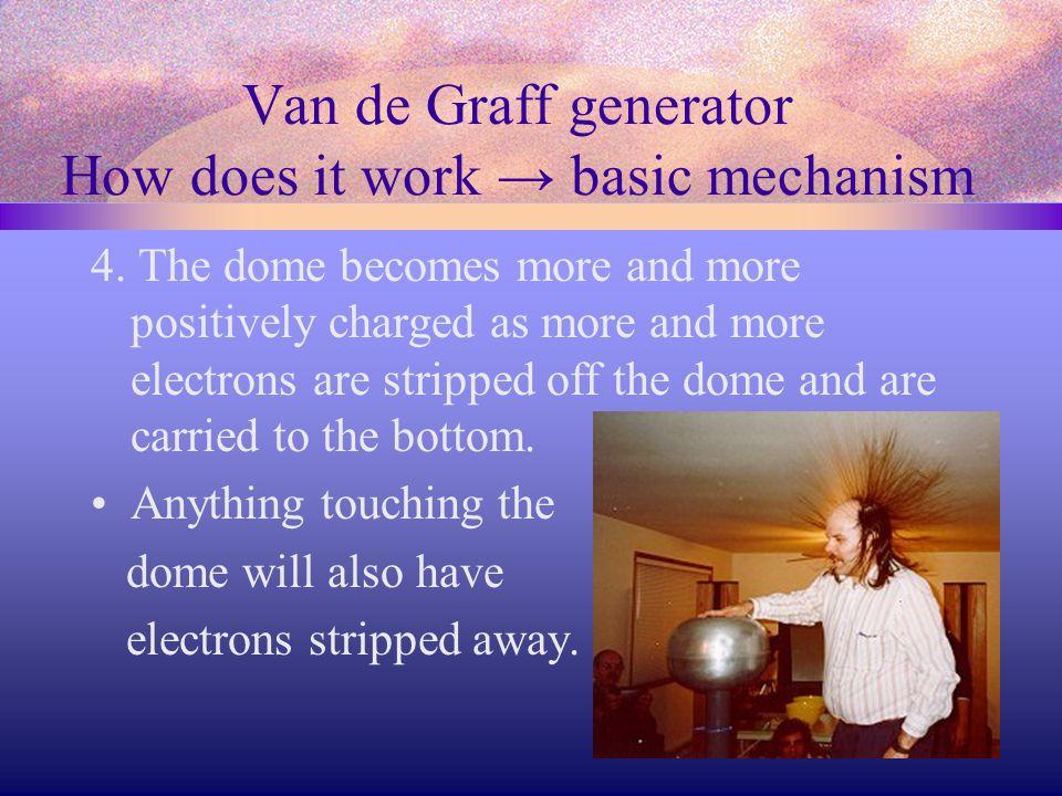 Van de Graff generator How does it work → basic mechanism 4.