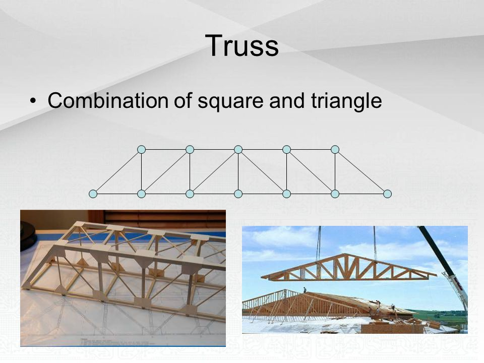Truss Combination of square and triangle