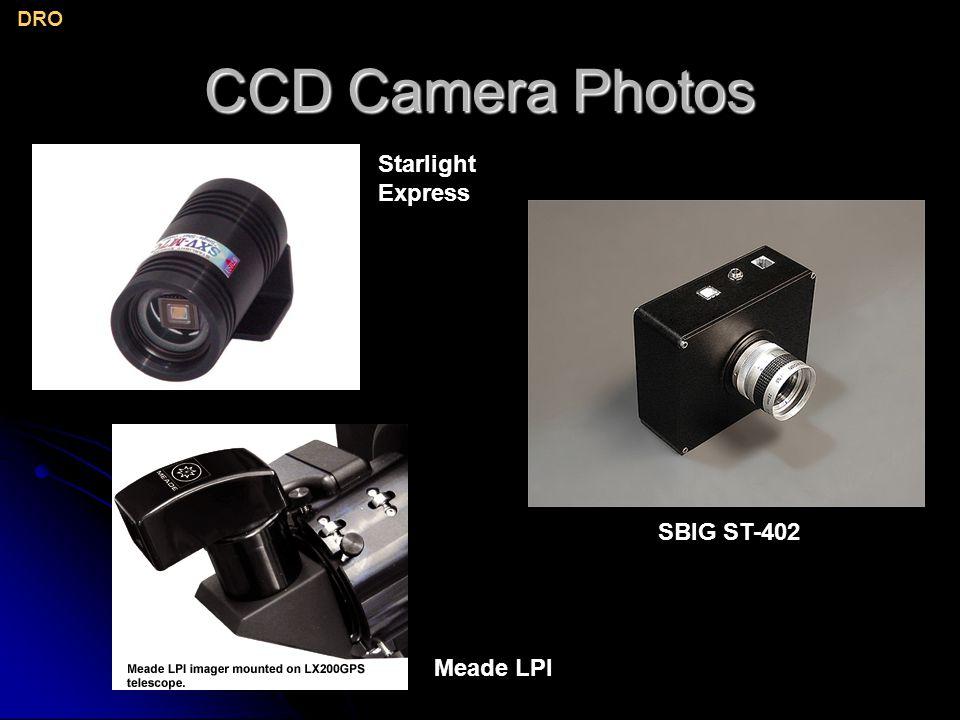CCD Camera Photos DRO Starlight Express SBIG ST-402 Meade LPI